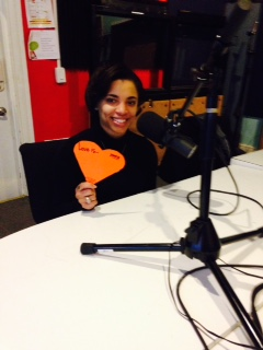 Fatima Smith broadcasting out of WRIR for the V Word